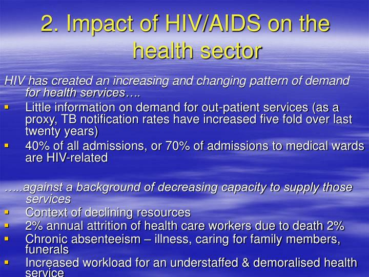 2. Impact of HIV/AIDS on the health sector