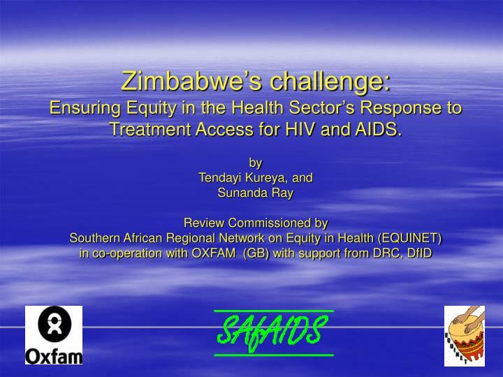 Zimbabwe's challenge: