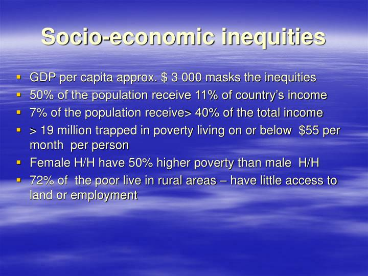 Socio-economic inequities