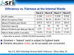 efficiency vs fairness at the internal wards