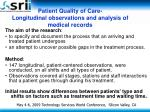 patient quality of care longitudinal observations and analysis of medical records