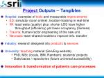 project outputs tangibles