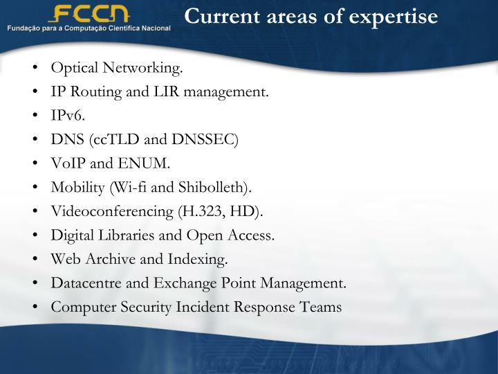 Current areas of expertise l.jpg