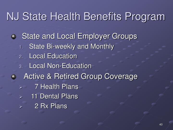 NJ State Health Benefits Program