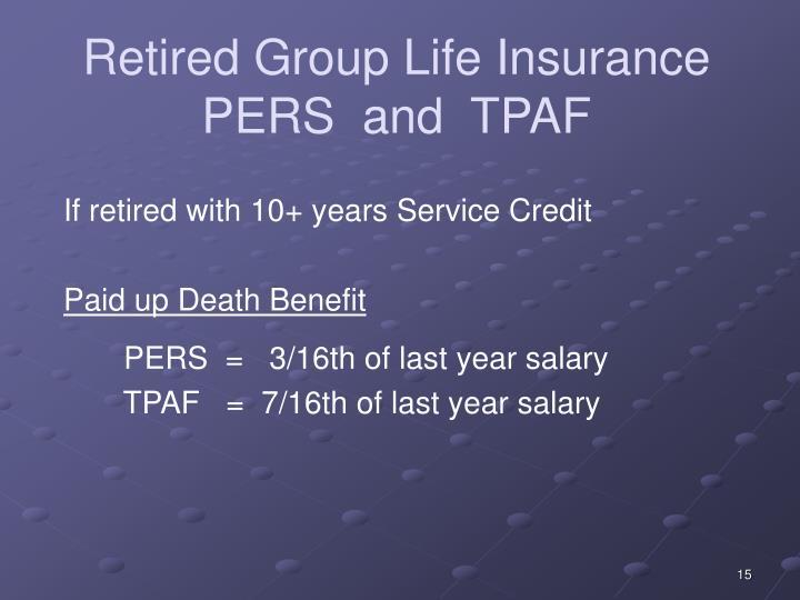 Retired Group Life Insurance