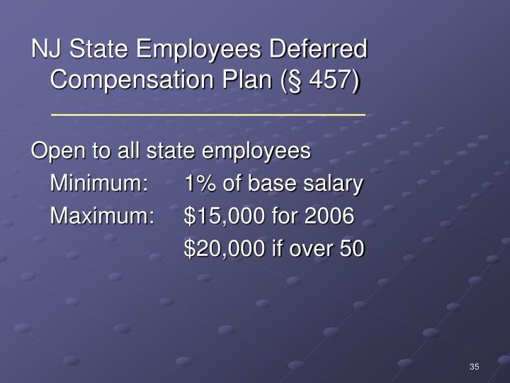 NJ State Employees Deferred