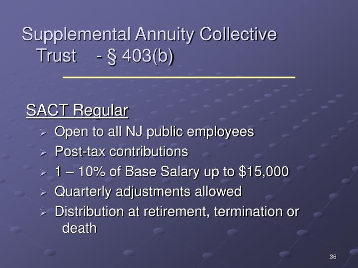 Supplemental Annuity Collective
