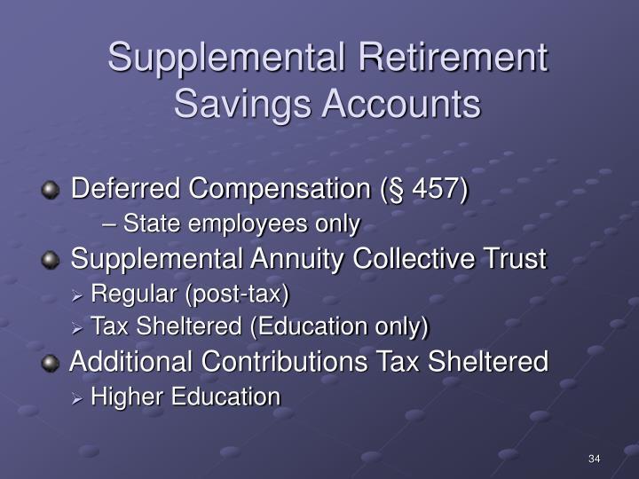 Supplemental Retirement Savings Accounts