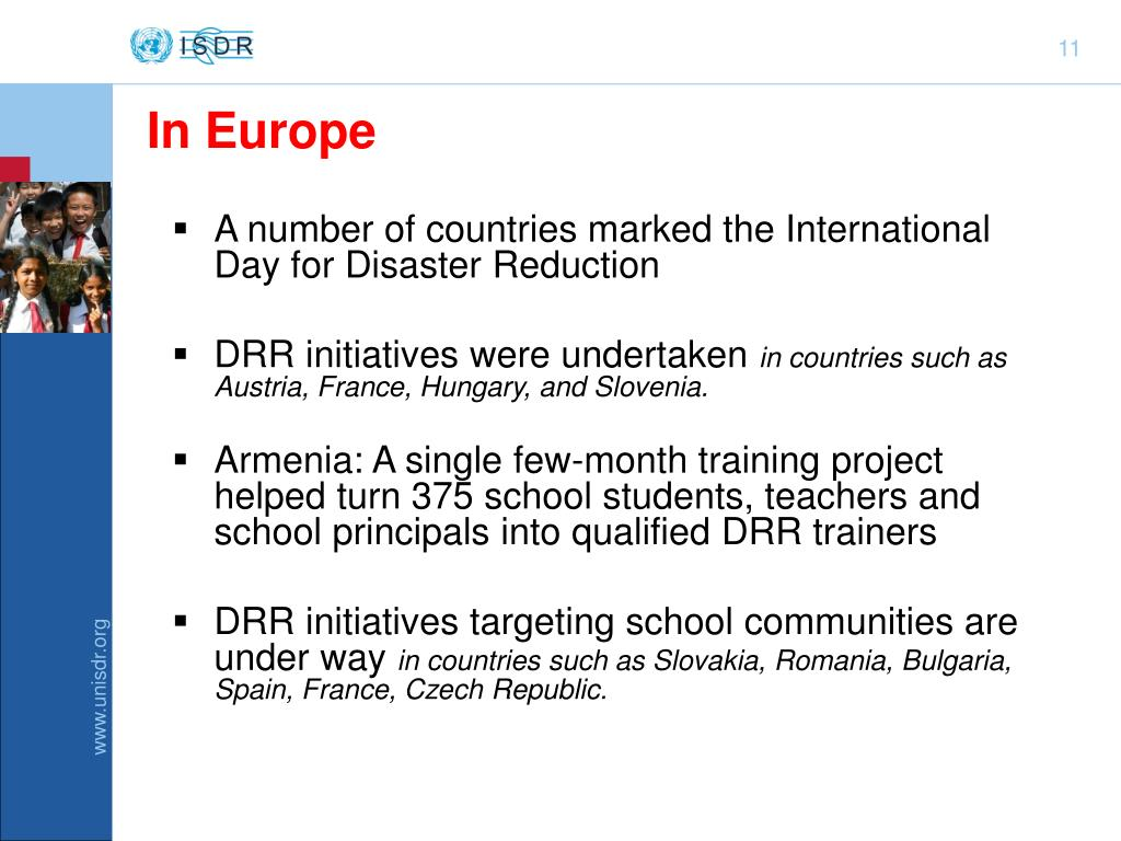 A number of countries marked the International Day for Disaster Reduction