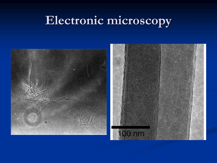 Electronic microscopy