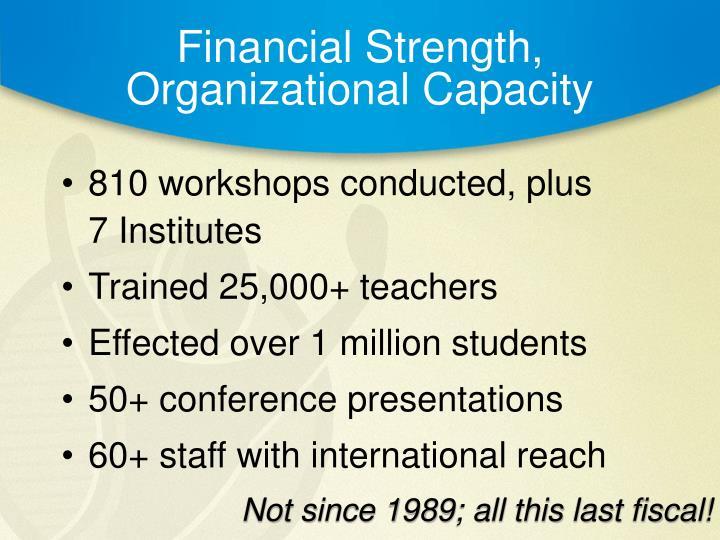Financial Strength,