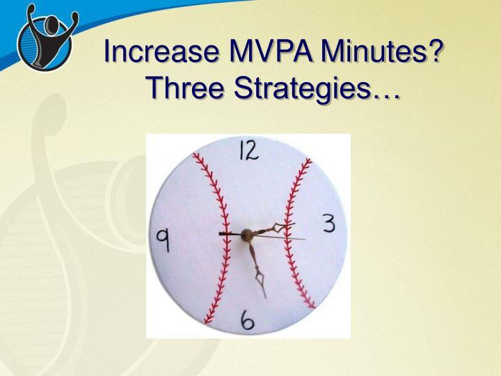 Increase MVPA Minutes?