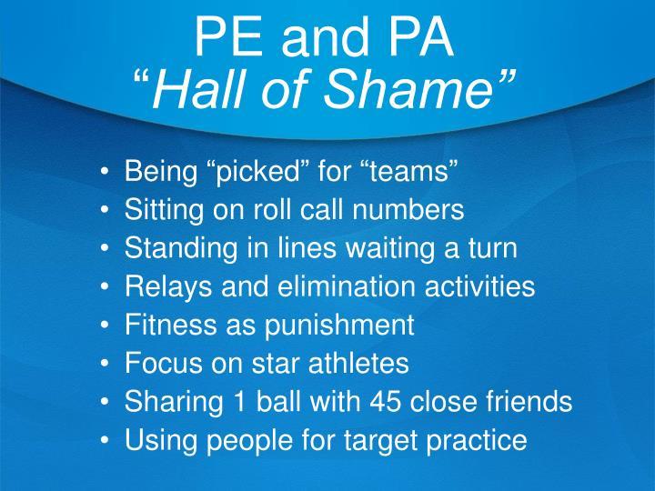 PE and PA