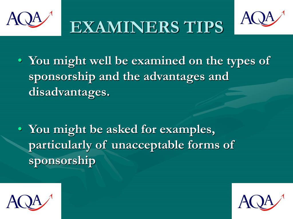 EXAMINERS TIPS