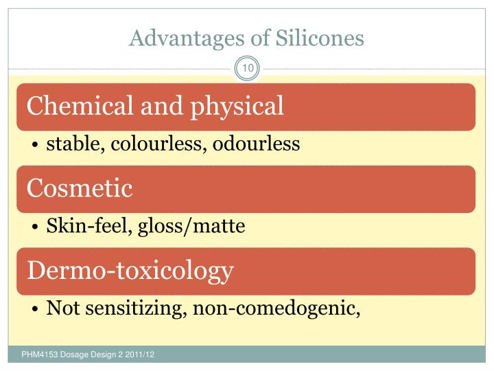 Advantages of Silicones