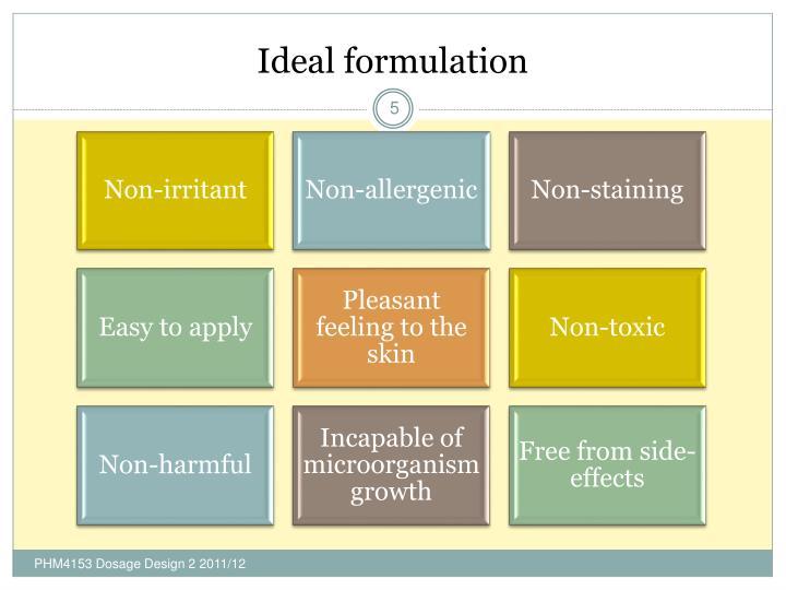 Ideal formulation