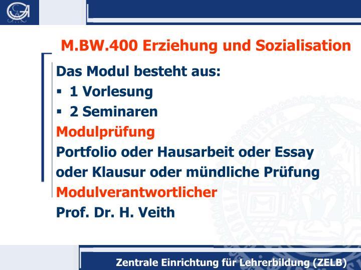 M.BW.400 Erziehung und Sozialisation