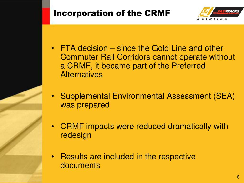 Incorporation of the CRMF