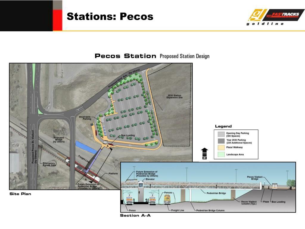 Stations: Pecos