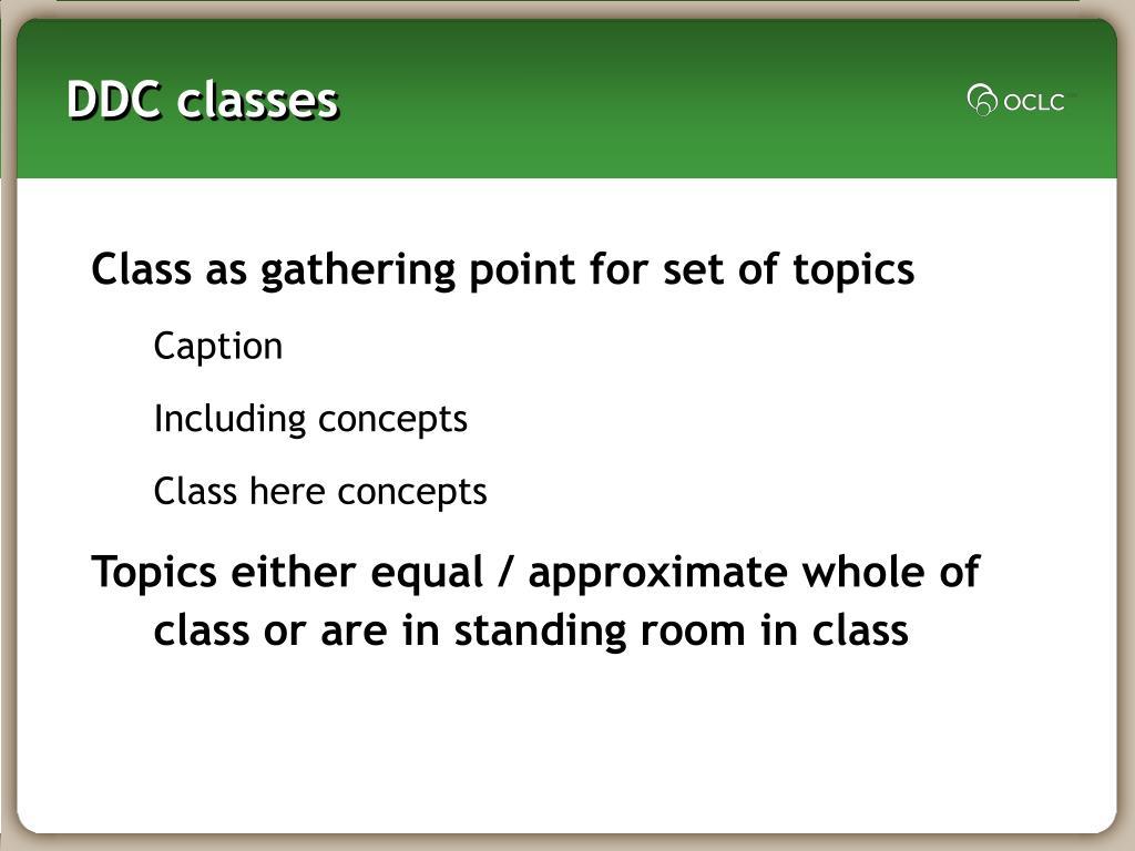 DDC classes