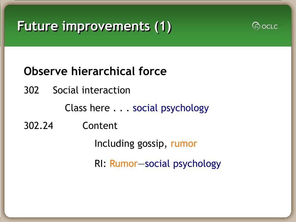 Future improvements (1)