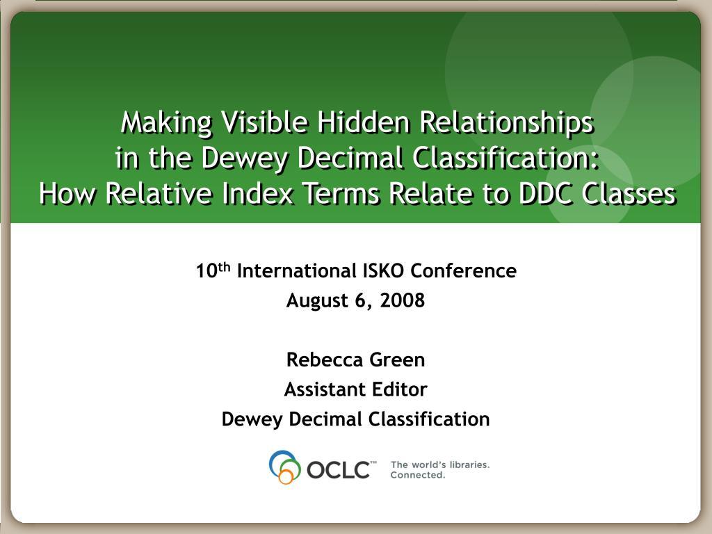 Making Visible Hidden Relationships