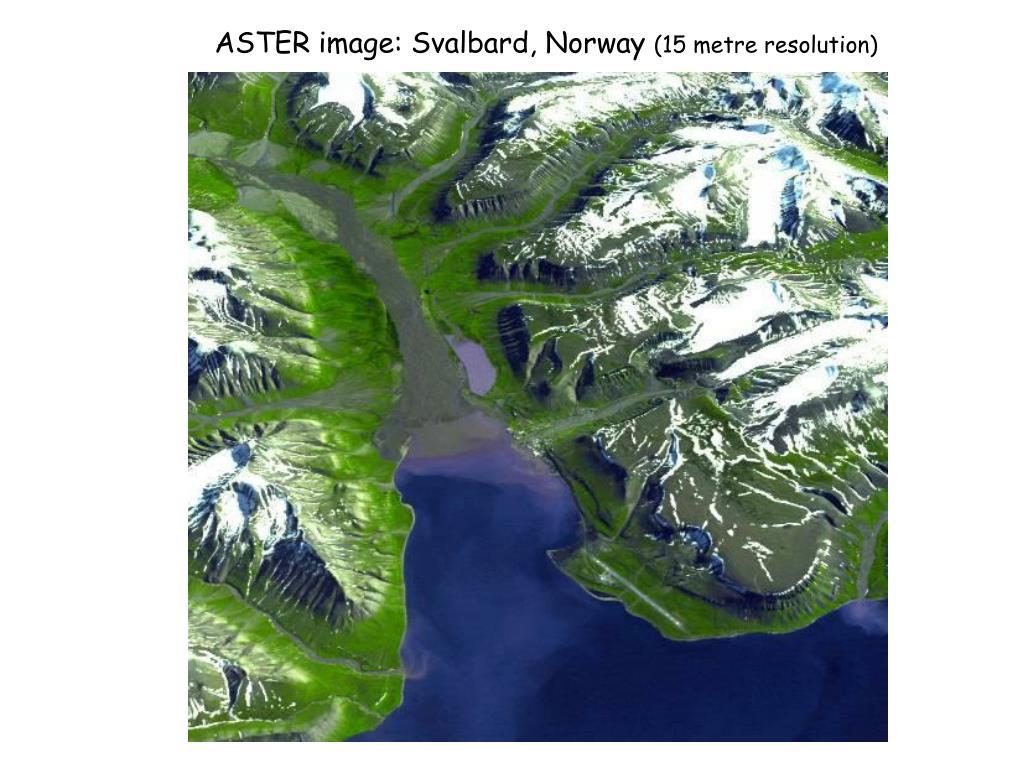 ASTER image: Svalbard, Norway
