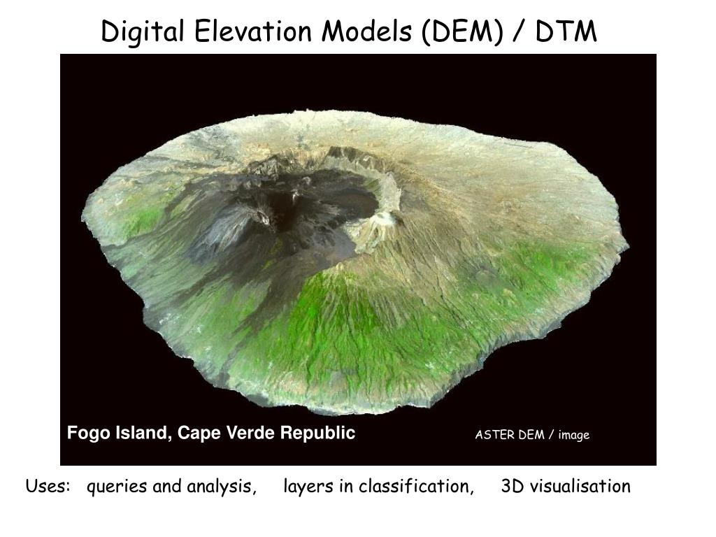 digital elevation models dem dtm
