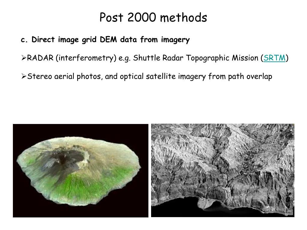 Post 2000 methods