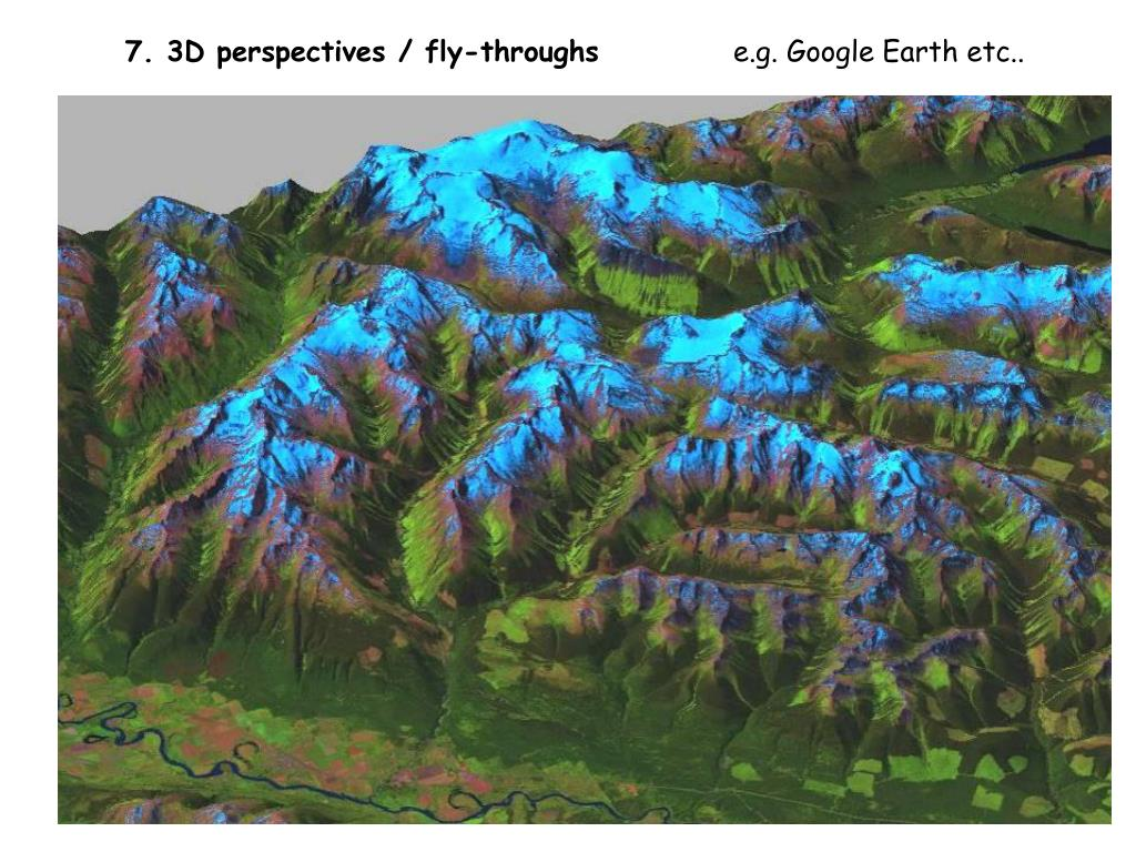 7. 3D perspectives / fly-throughs