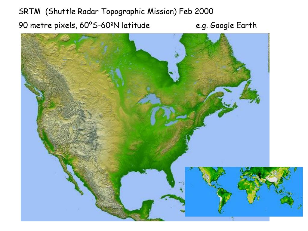 SRTM  (Shuttle Radar Topographic Mission) Feb 2000