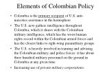 elements of colombian policy