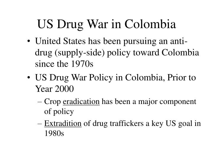Us drug war in colombia