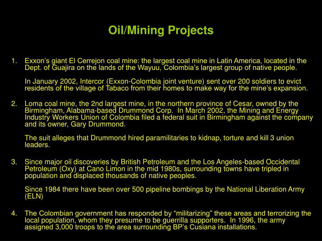 Oil/Mining Projects