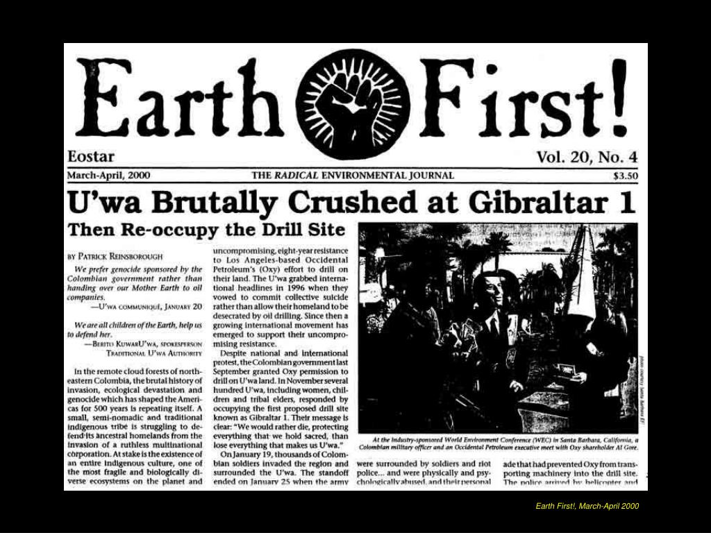 Earth First!, March-April 2000