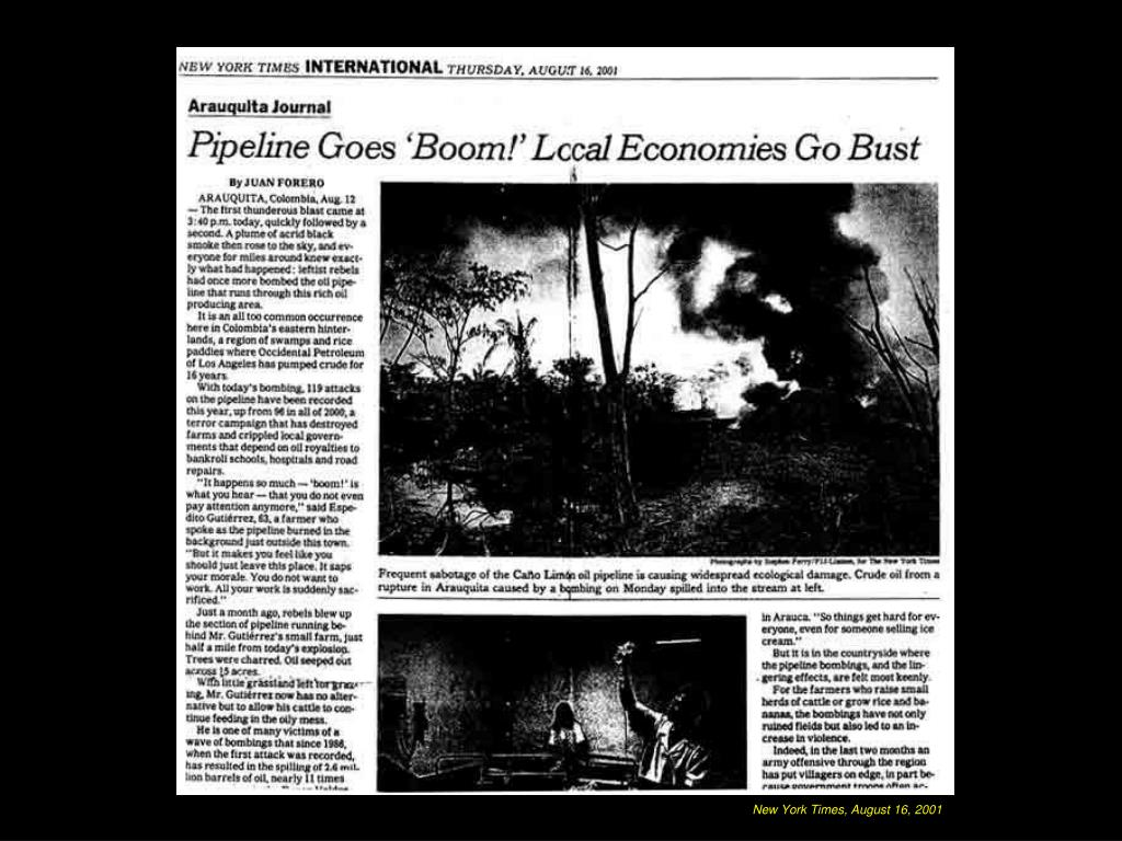 New York Times, August 16, 2001