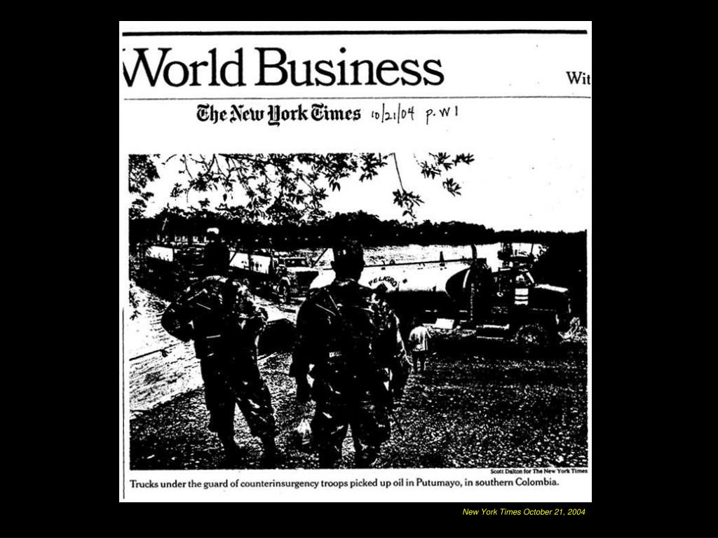 New York Times October 21, 2004