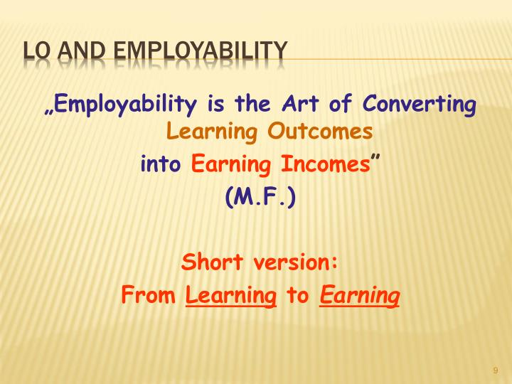 """Employability is the Art of Converting"