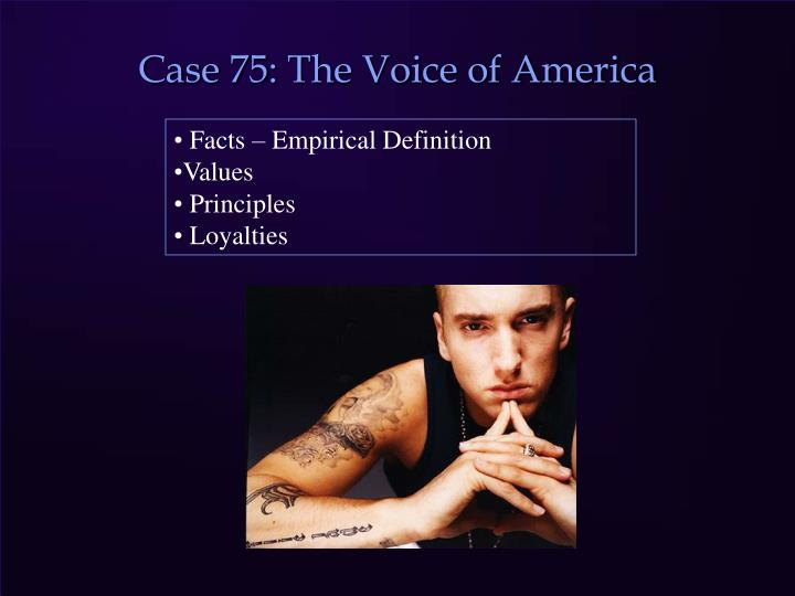 Case 75: The Voice of America