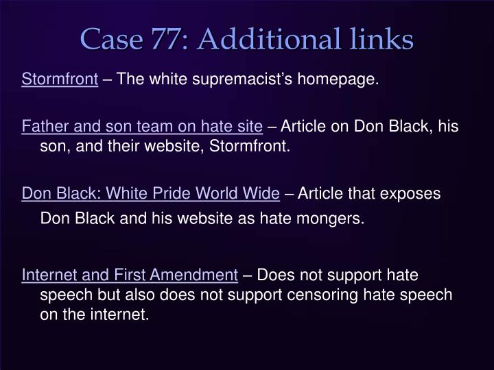 Case 77: Additional links