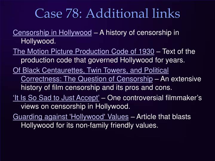 Case 78: Additional links