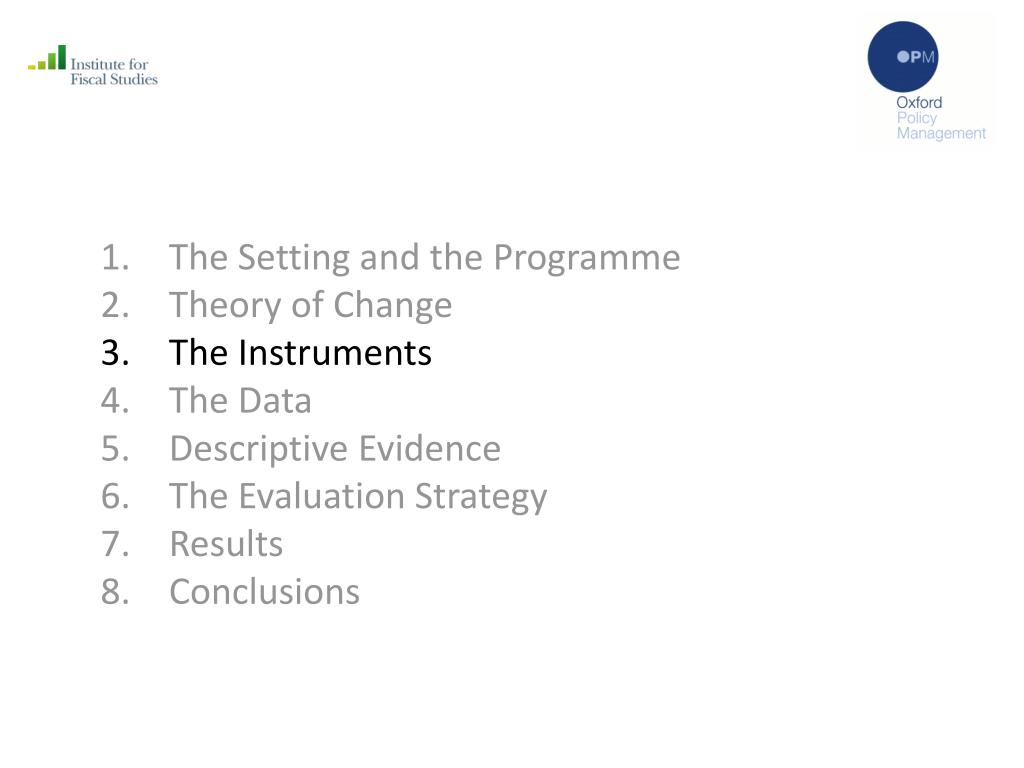 The Setting and the Programme