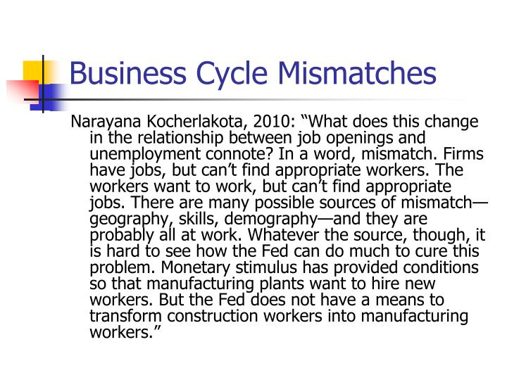 Business Cycle Mismatches