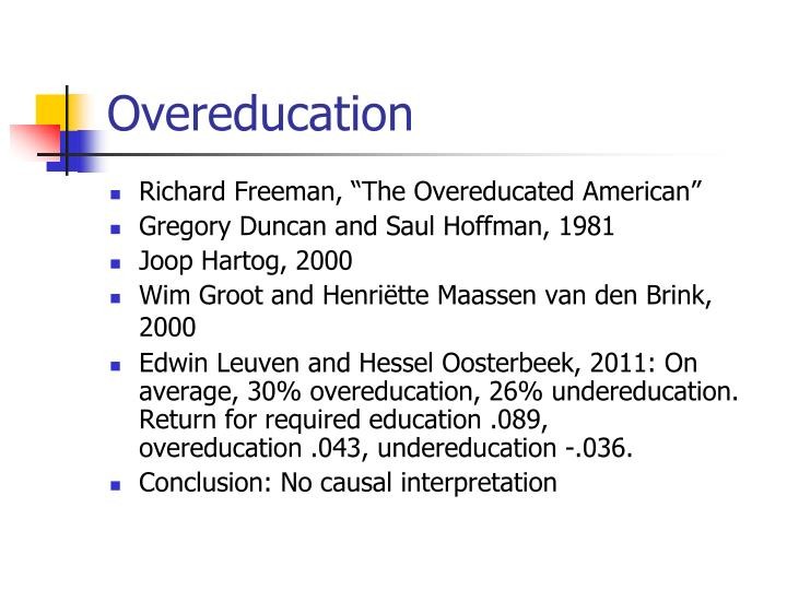Overeducation