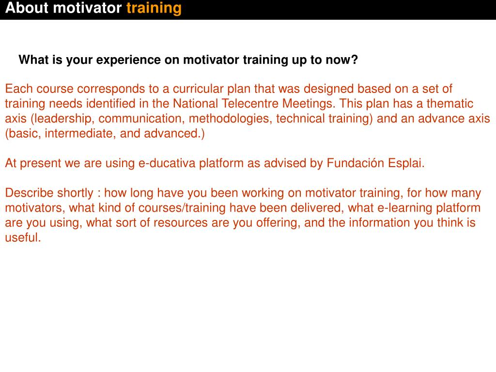 About motivator