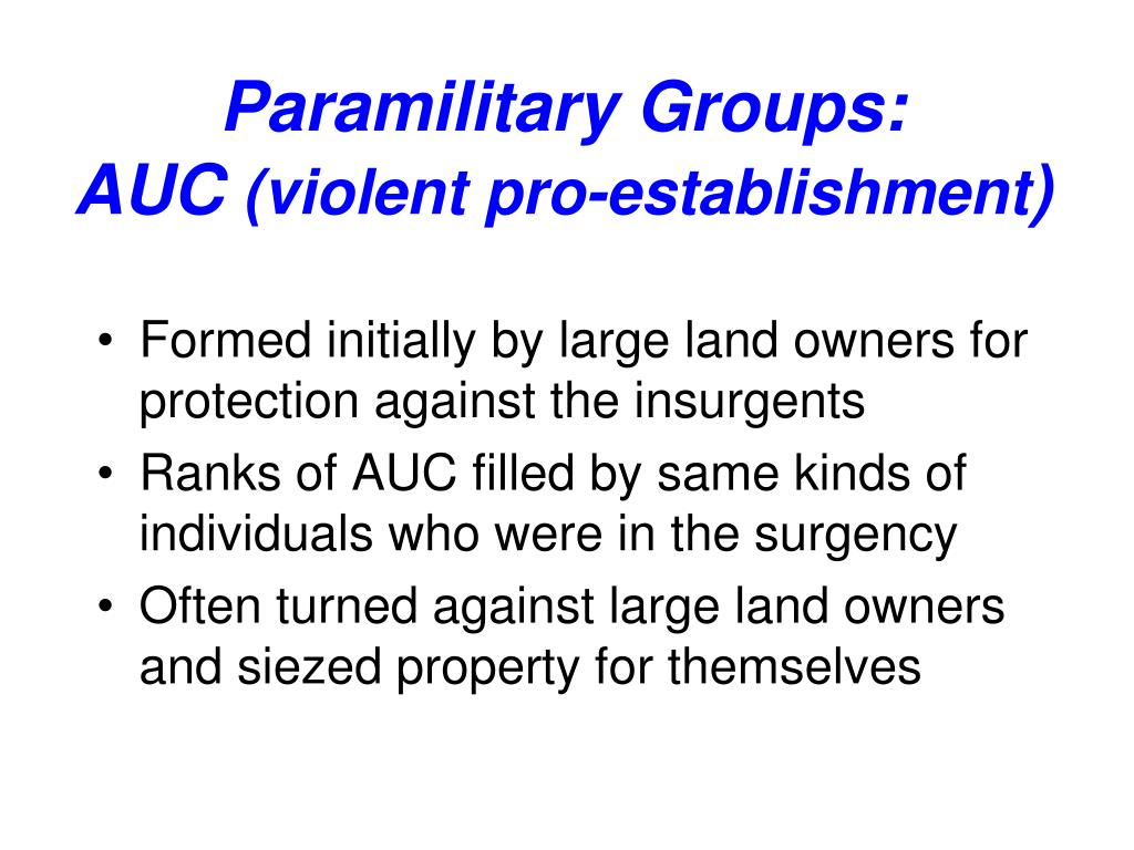 Paramilitary Groups: