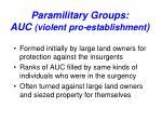 paramilitary groups auc violent pro establishment