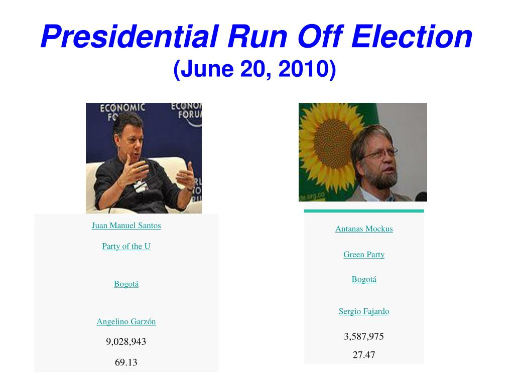 Presidential Run Off Election