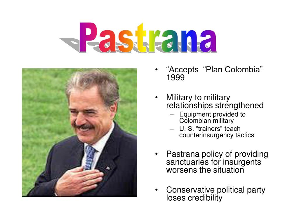 """""""Accepts  """"Plan Colombia"""" 1999"""