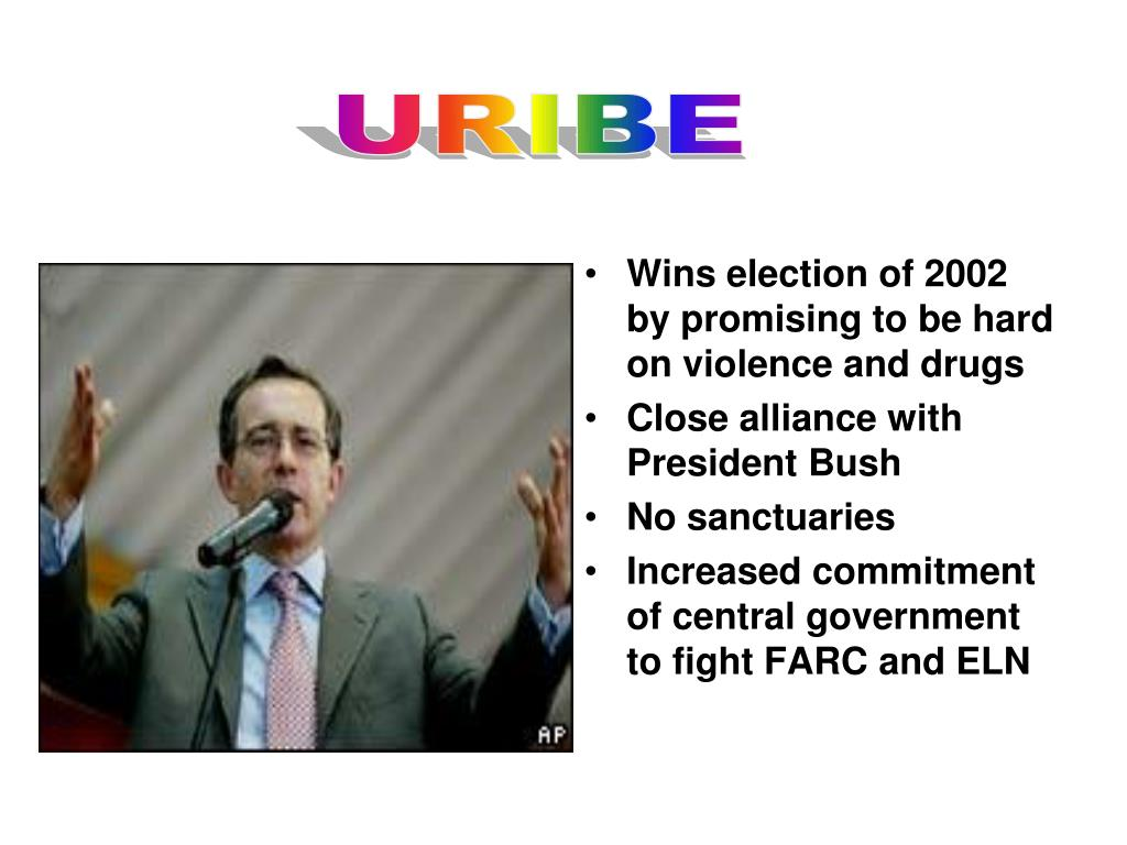 Wins election of 2002 by promising to be hard on violence and drugs